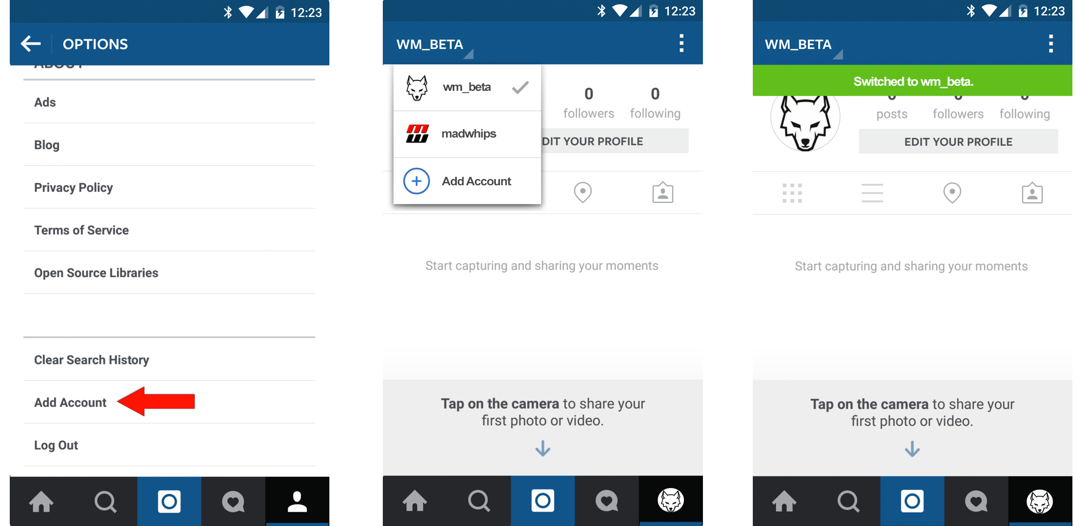 Create an instagram account - Instagram Beta Account Switching Android