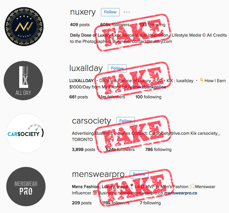 Fraud Instagram Accounts