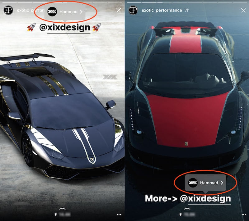 Instagram Stories Mention XIXdesign