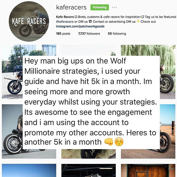Kafe Racers Instagram Growth