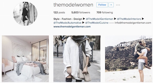 The Model Women Content Instagram Account