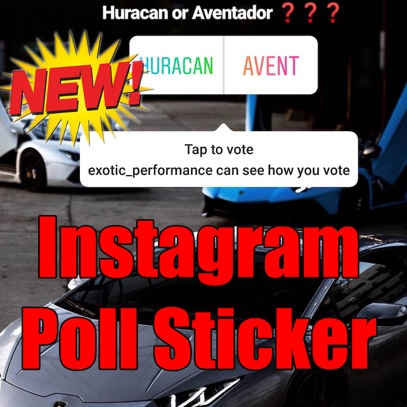Poll Sticker Instagram Stories