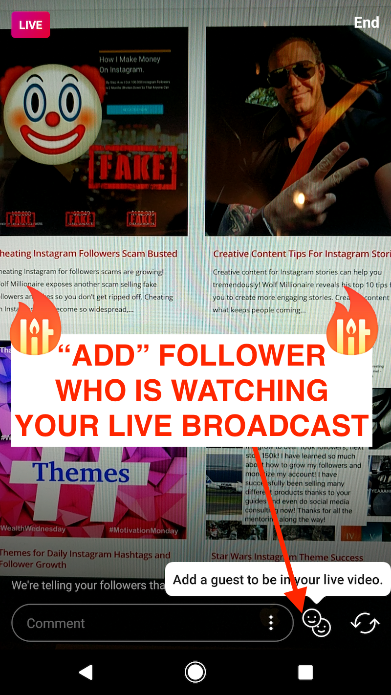 split screen add guest Instagram