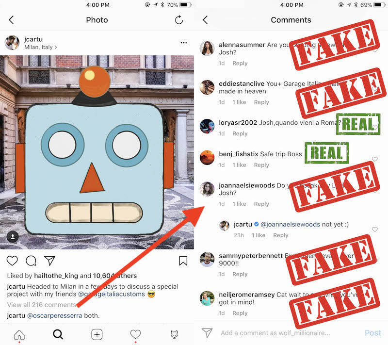Faking instagram comments exposed wolf millionaire blog faking instagram comments ccuart Images