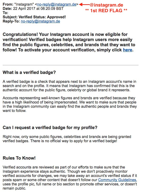 Instagram Scams - How To Spot Them - Wolf Millionaire