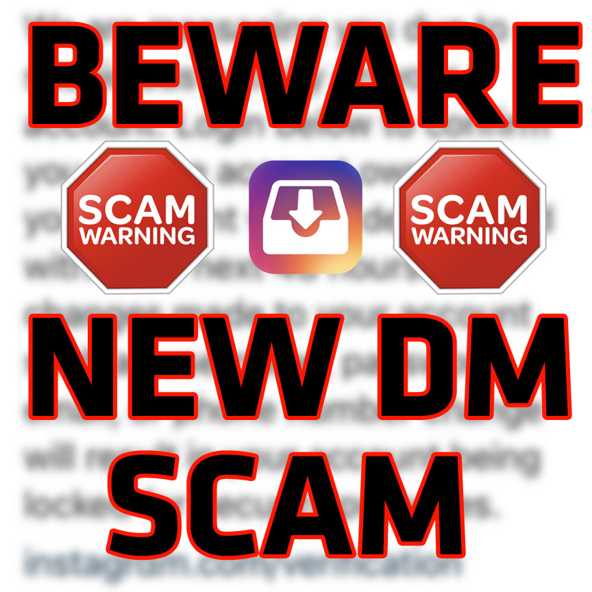 Direct Message Instagram DM Scam - Wolf Millionaire