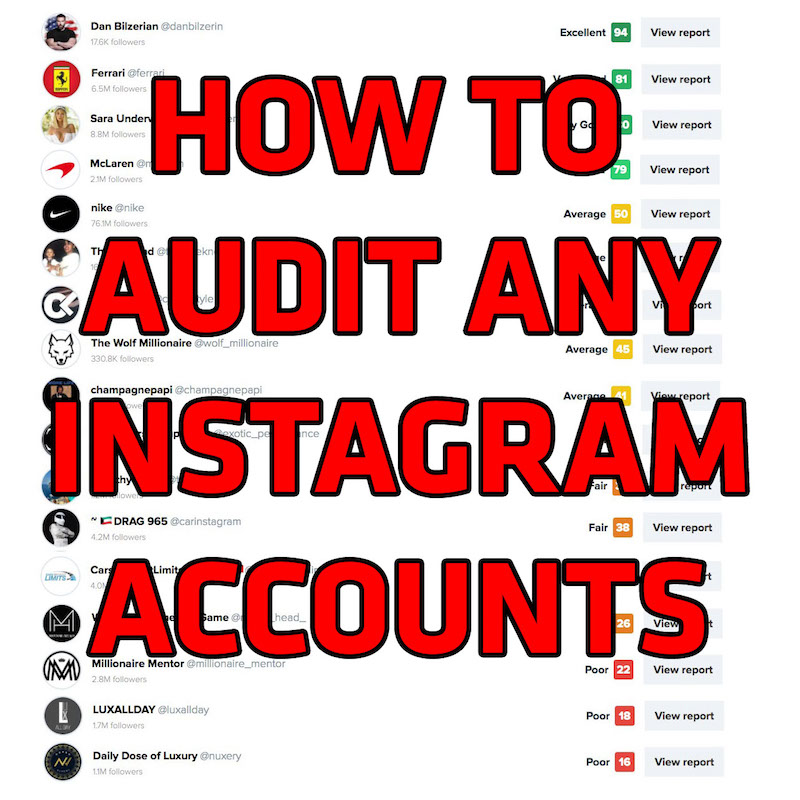 Audit Instagram Accounts