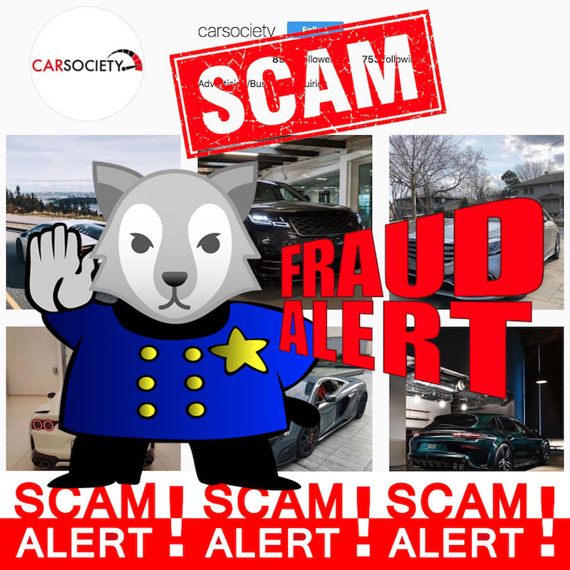 CarSociety Instagram Scam Exposed