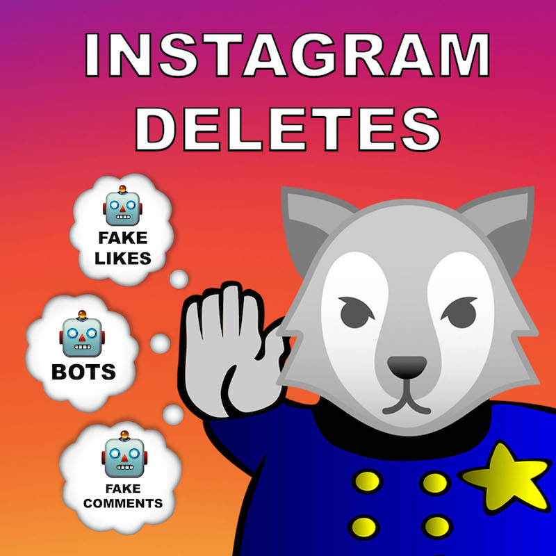 Instagram Deletes Fake likes comments users
